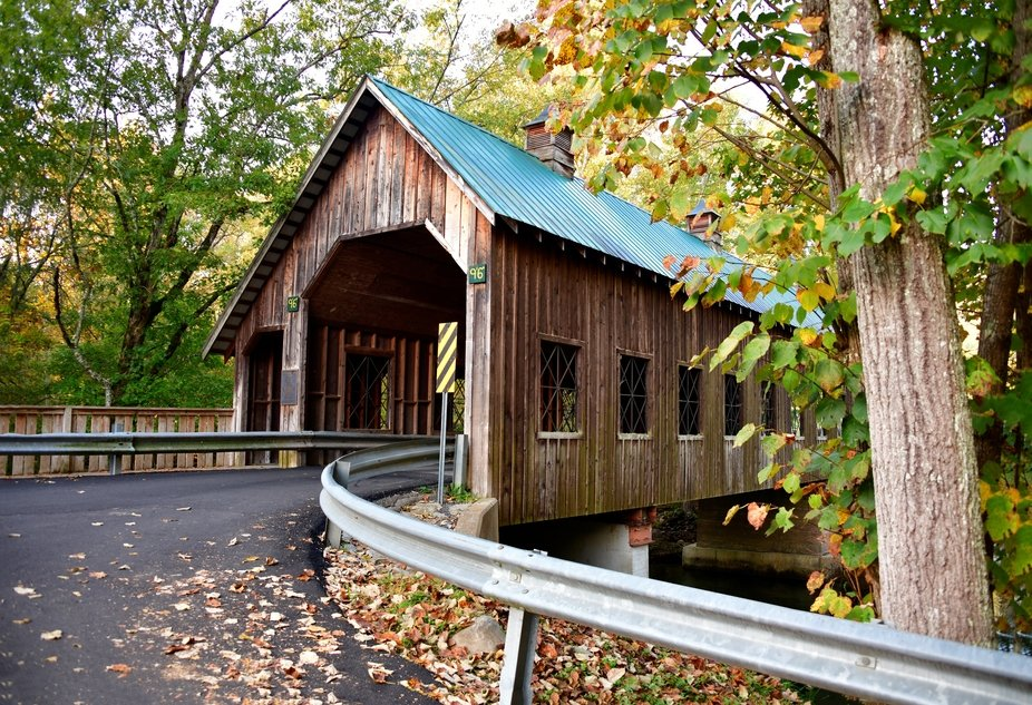 Emert's Cove covered bridge. Tennessee