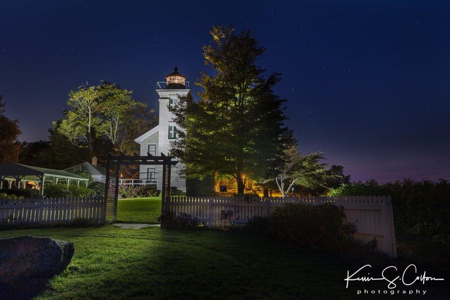 Sodus Bay Lighthouse Museum on Lake Ontario Upstate New York