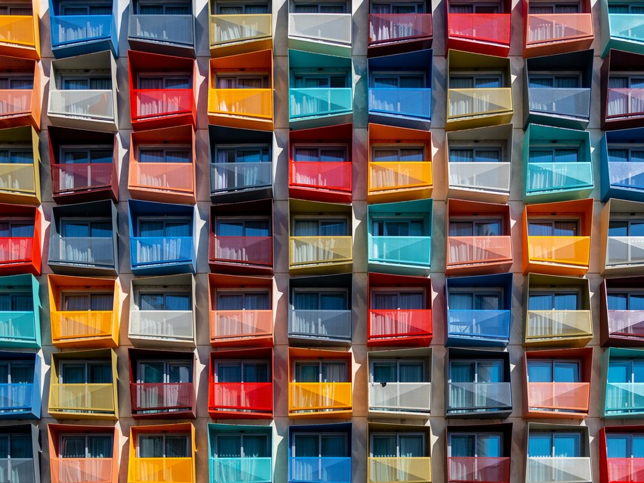 Colorfull house in sunny Malta, in the San Ġiljan city.