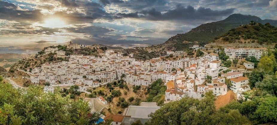 Panoramic view of Casares