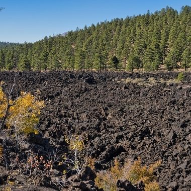 Cold lava river on Sunset Crater Volcano in AZ