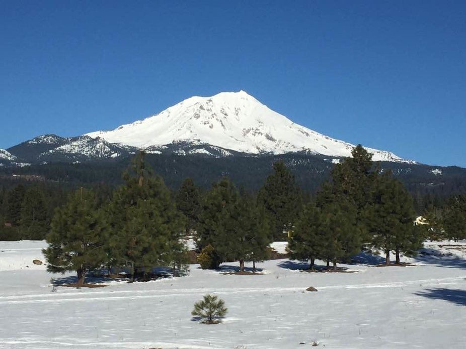 Mt Shasta taken from McCloud California 12-31-2016