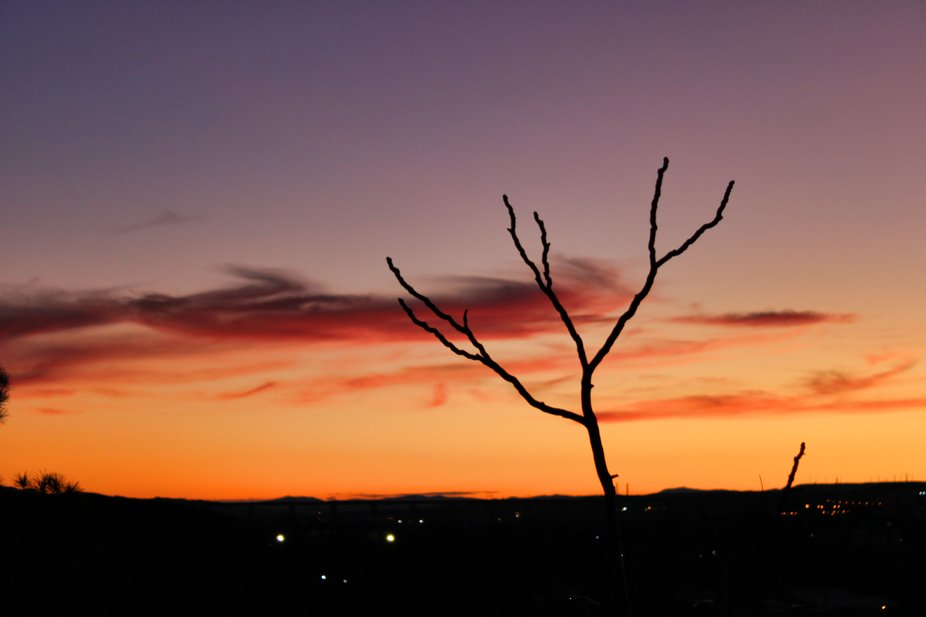 """Sunset at """"Parque Grande"""". I found the sunset beautiful but it got better with ..."""