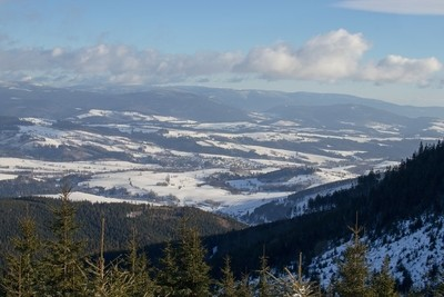 Winter Snow Country, Czech Republic, View from the Kralicky Sneznik