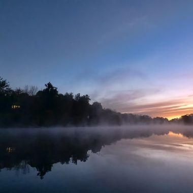 Early morning on the lake