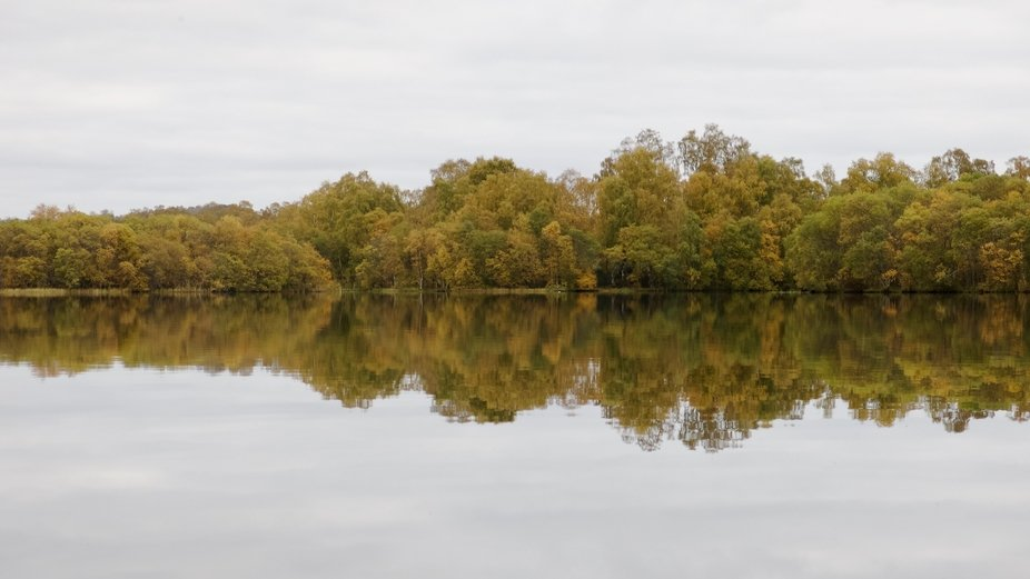 A local loch in autumnal colours