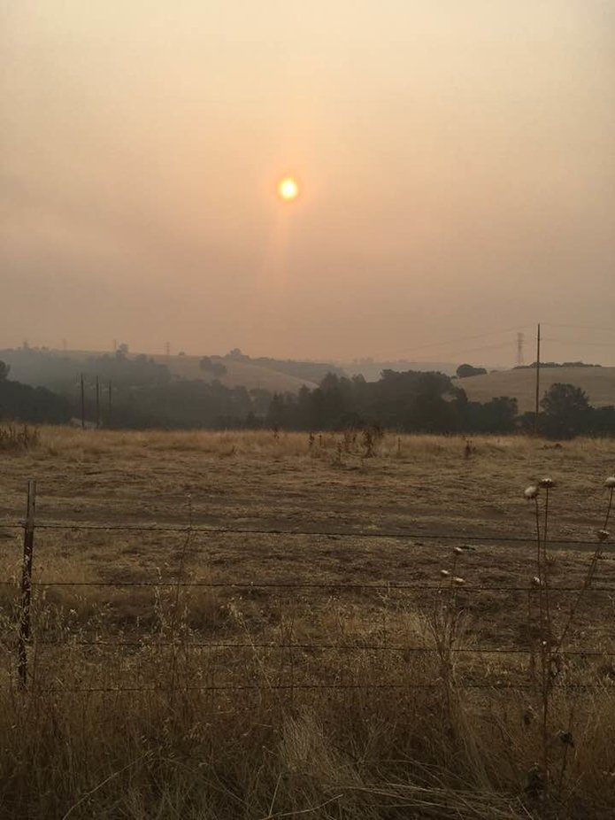 Smoke from the 2019 Northern California fires