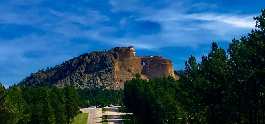 Crazy Horse is on private land in Custer County South Dakota