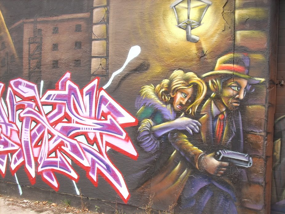 """I saw this in the inner city, """"The Hood""""."""
