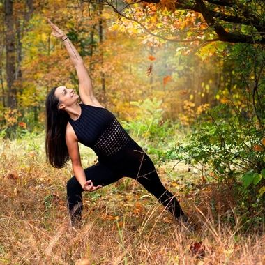Autumn Yoga: Extended Side Angle