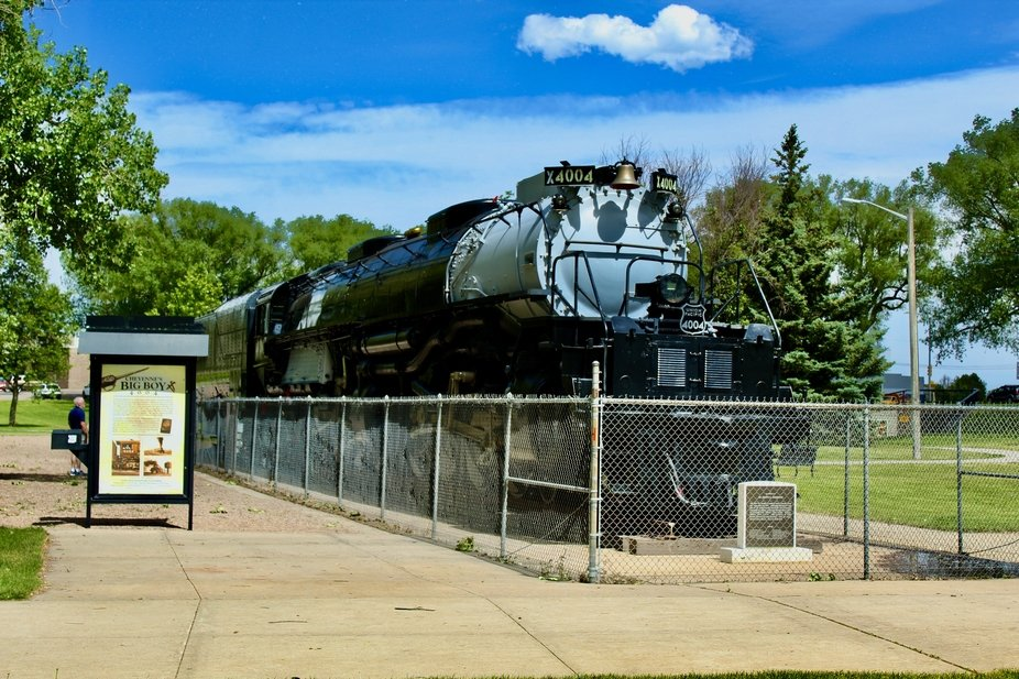 A steam engine that help build the west, Big Boy in Cheyenne, Wyoming.