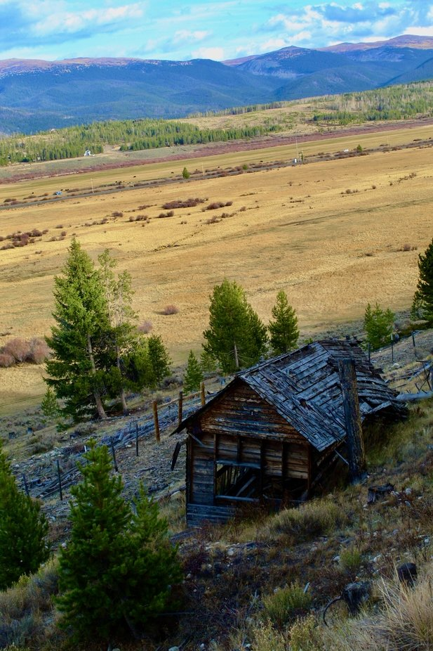 Old Homestead in the Colorado Rockies.