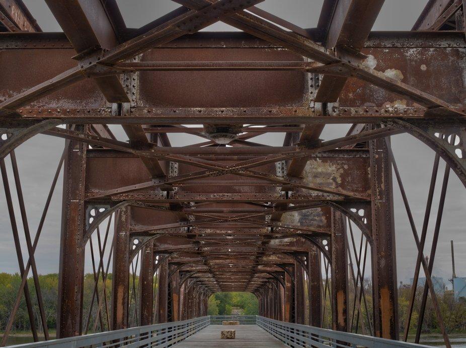 Swing Bridge  in Fall