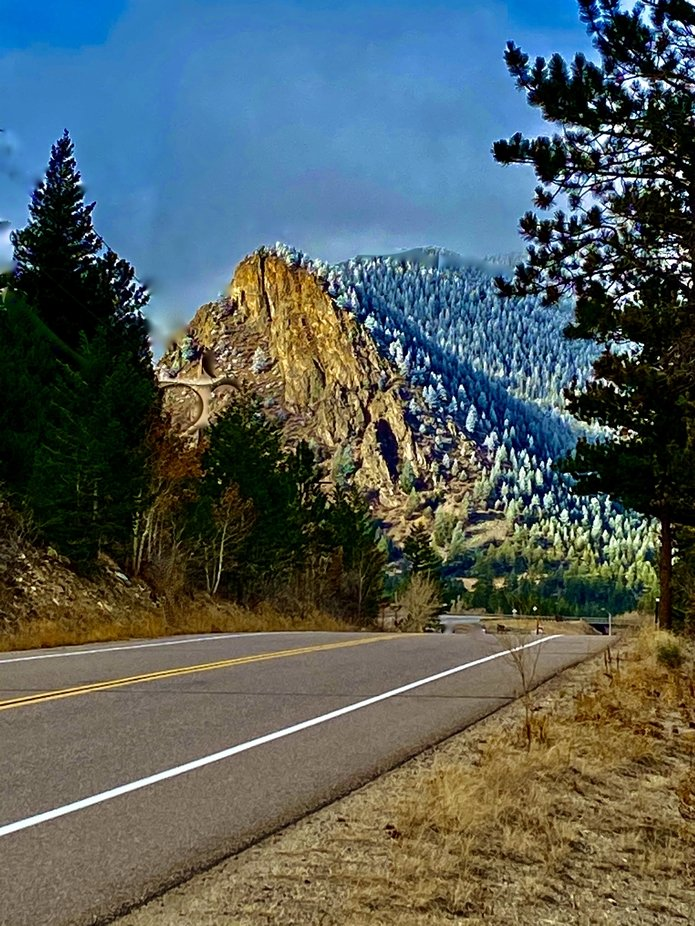 Mountain road in Dumont Colorado