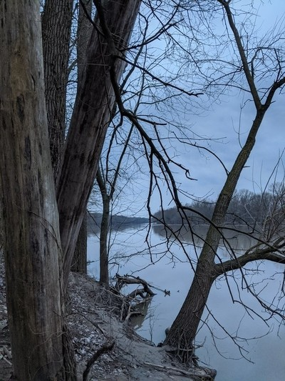 Gazing down the Wabash River