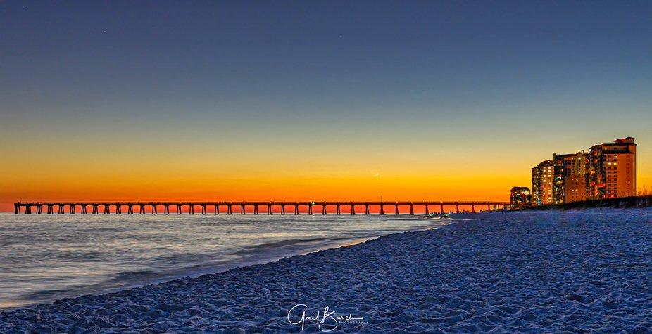 Taken on Navarre Beach, FL right after sunset.