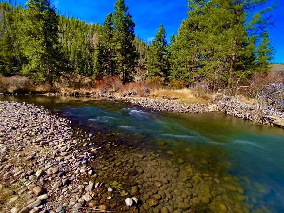 Fraser River in Tabernash Colorado 2020