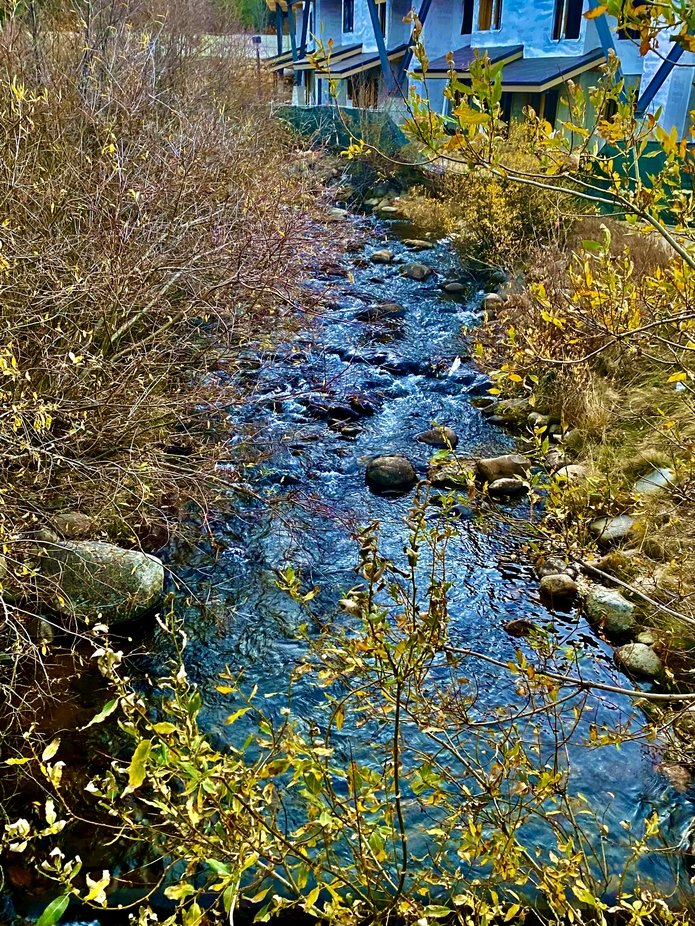 A little creek in downtown Winter Park Colorado