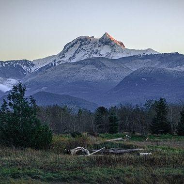 Mount Garibaldi with Estuary, Brohm Ridge, and Cheekeye Ridge. This was taken in 90km winds, I didnt last long.