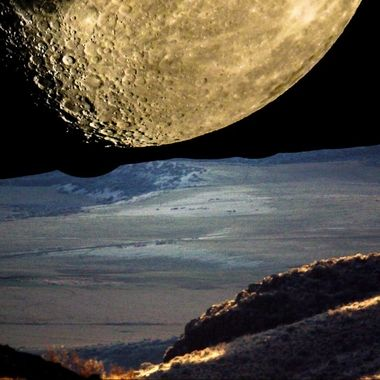 Manipulated moon photo