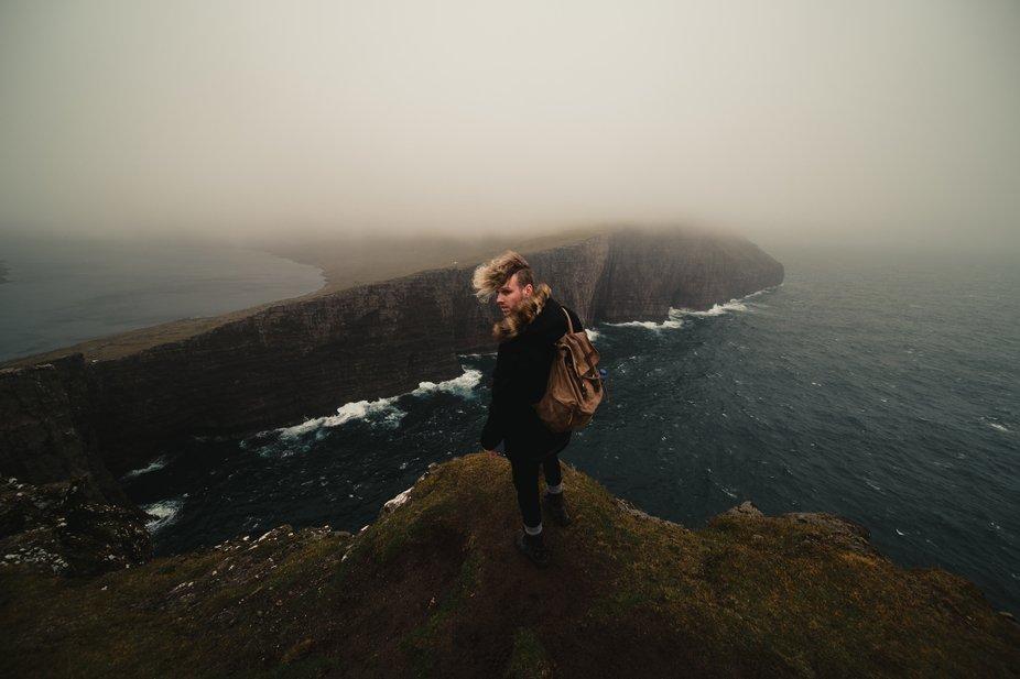 Floating lake in Faroe Islands