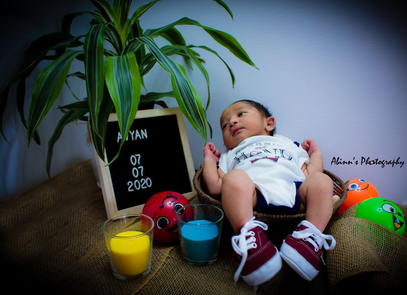 First Photoshoot of baby boy