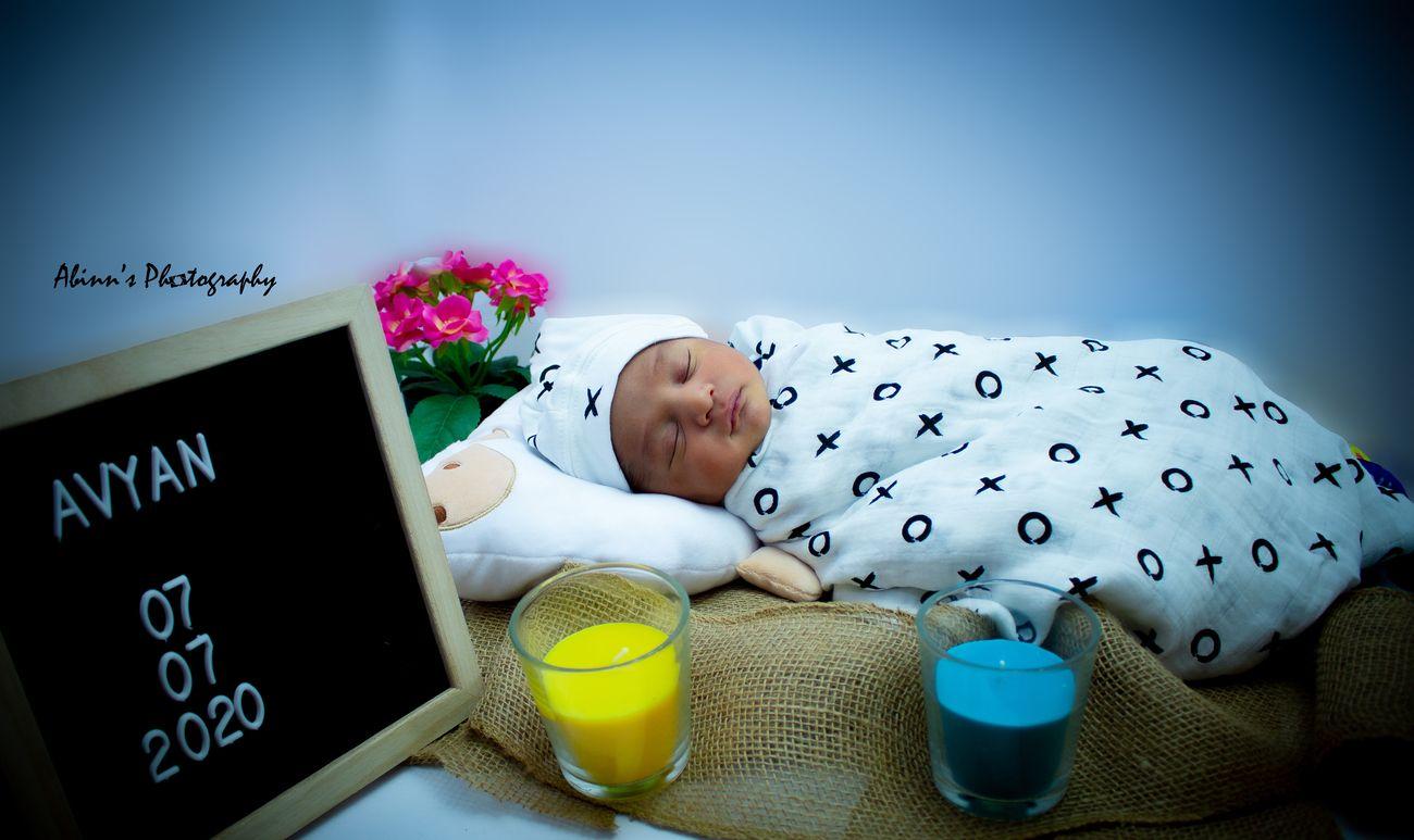 Newborn sleeping shot