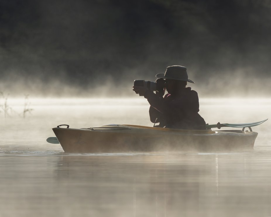 Photographer on the Lake