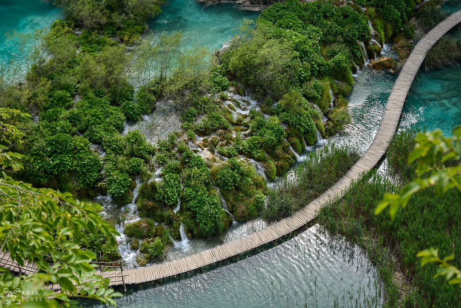 Beautiful nature at Plitvice Lakes in Croatia during summer 2020. A beautiful and magical sight f...