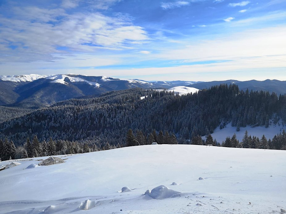 mountains and snow in the same photo a wonderful and special image, nature offers us everything i...
