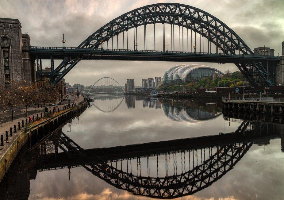 The Newcastle Tyne bridge. Bridging Gateshead to Newcastle