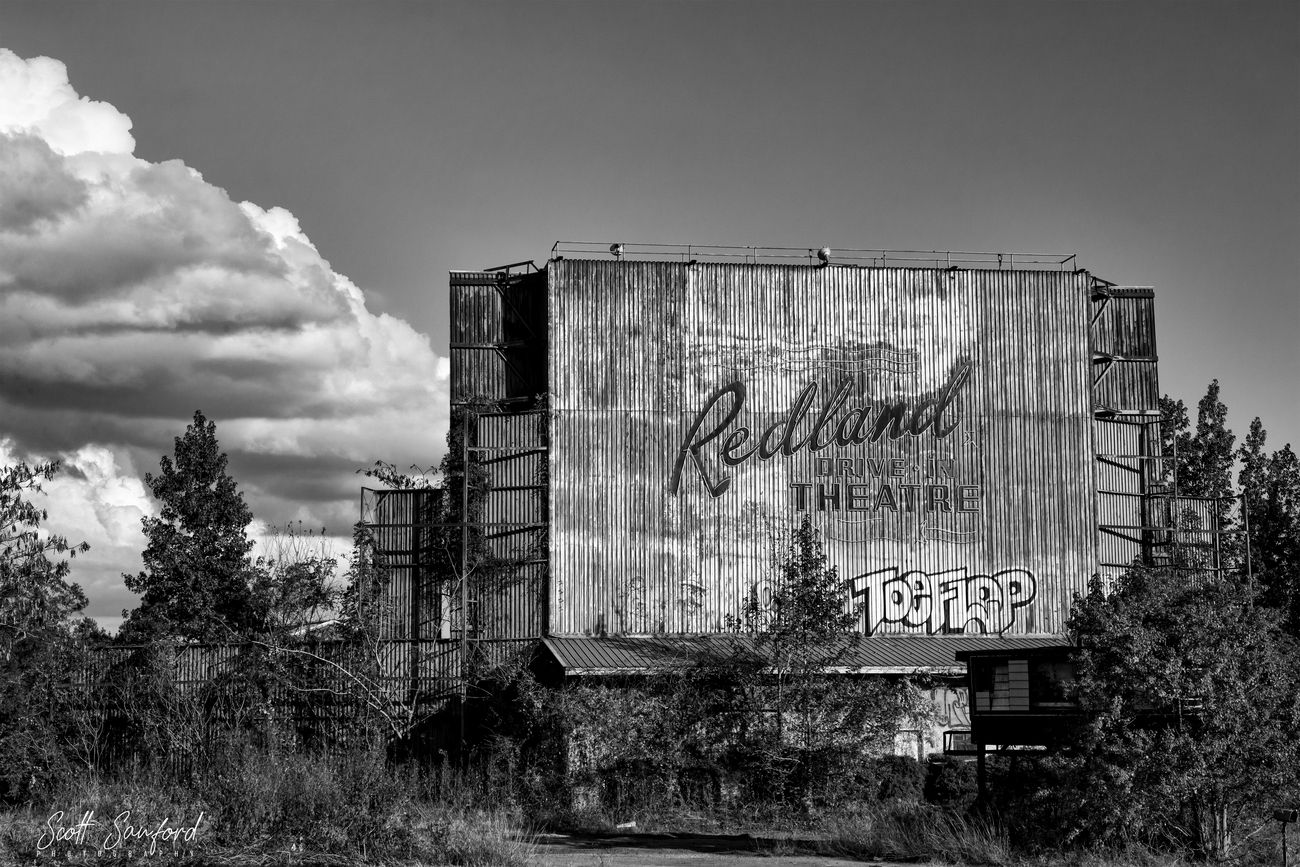 Redland Drive In in Redland, TX between Lufkin and Nacogdoches.