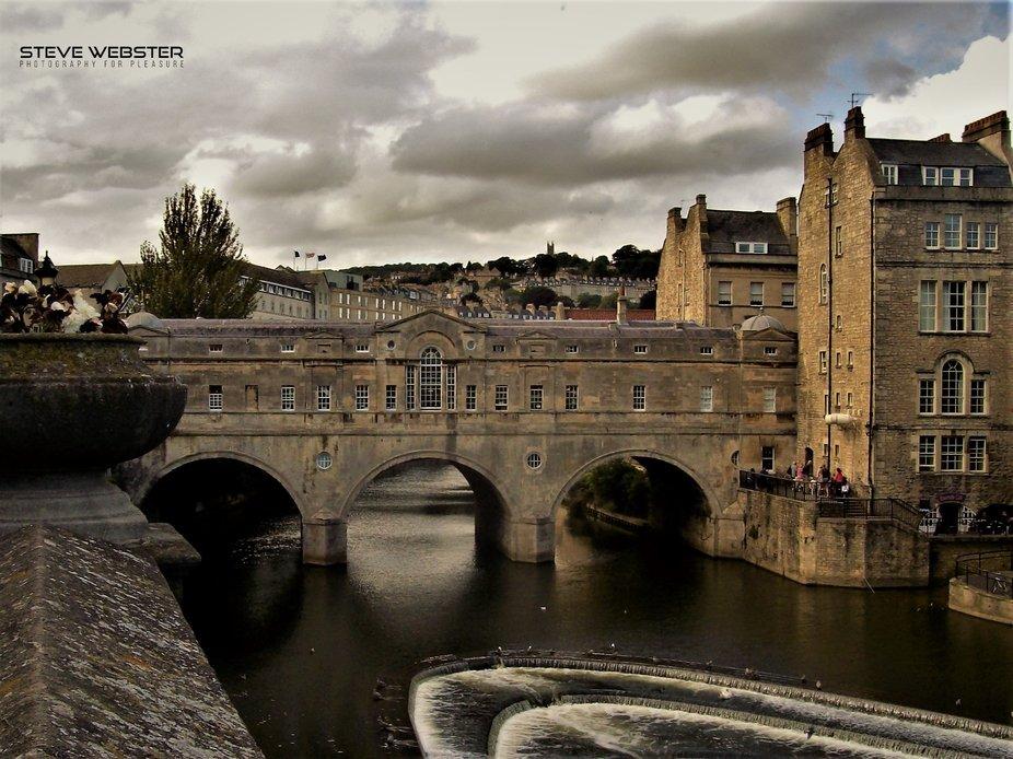 River Avon Pulteney Bridge Bath 2009