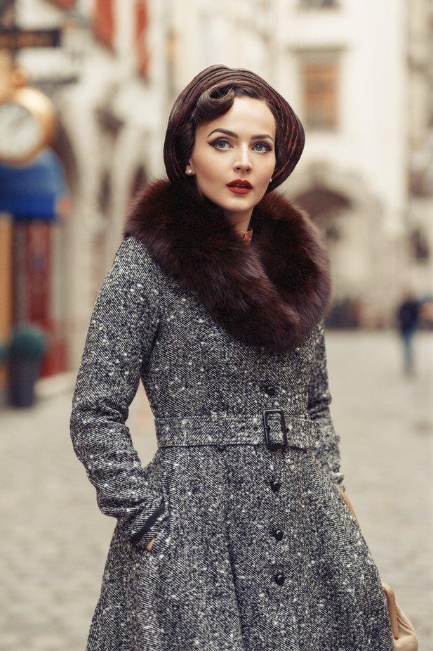 Retro lady by NinaMasic - Winter Fashion Styles Photo Contest