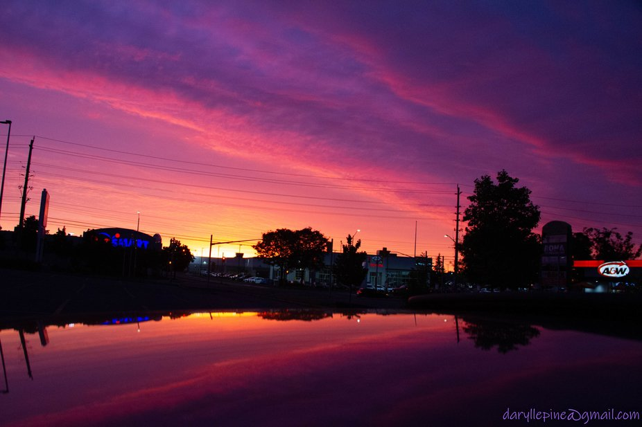 Early morning sunrise, found out later I had two CPL filters on, a silly fluke that turned out we...
