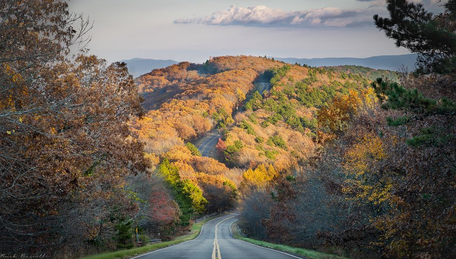 Fall colors on the Talimena Scenic Byway