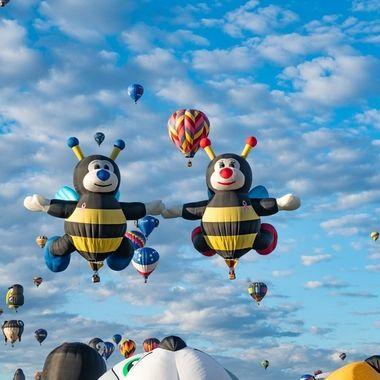 Honey Bee hot air balloons.