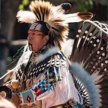 Pueblo Indian in Santa Fe, NM