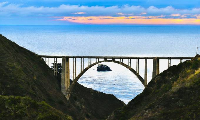 Coastal Canyon Perspectives.  Inspired to find a unique perspective of a historic bridge along the Pacific Coast Highway along the central coast of California.