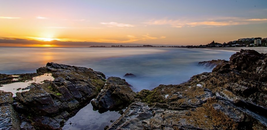 Currumbin Ally long exposure sunrise