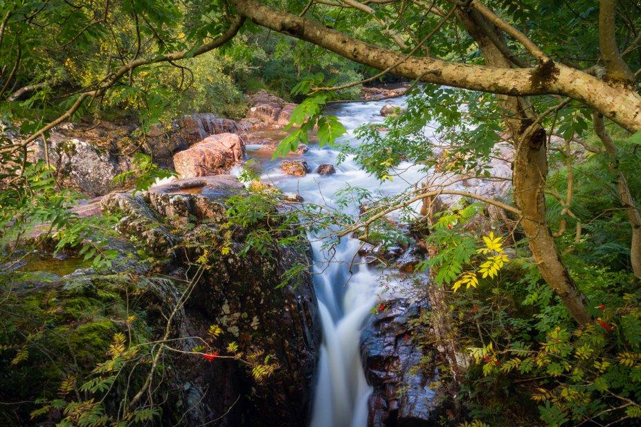 Lower falls, River Nevis, Scotland