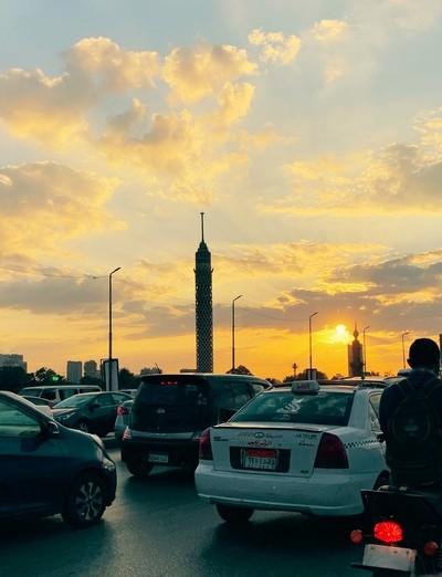 Lovely sunset in cairo ❤️