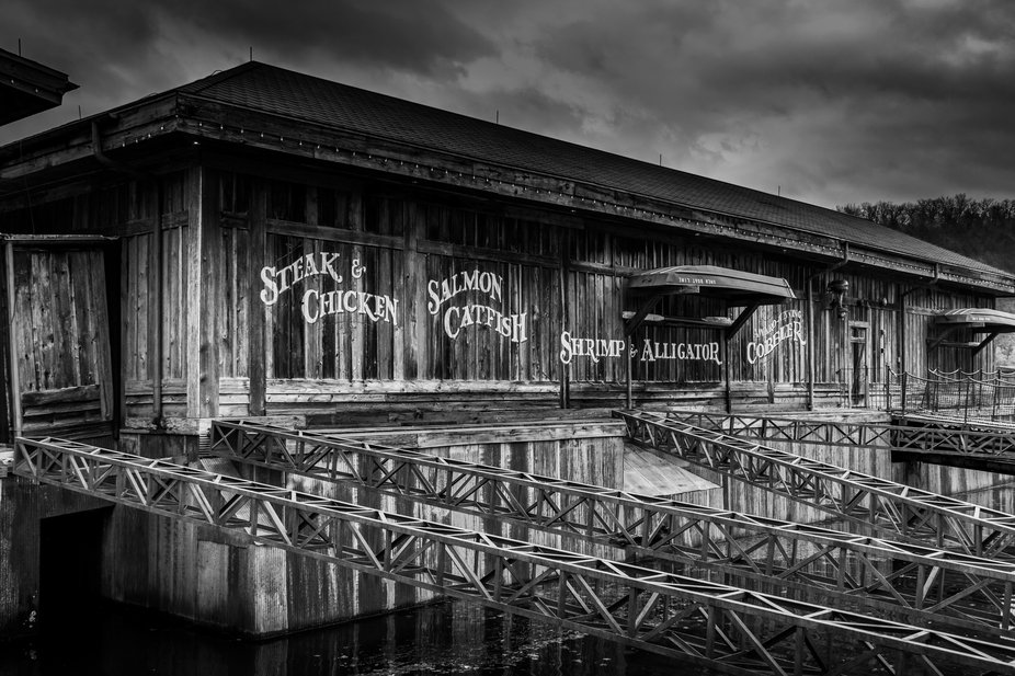 Restaurant on the river.