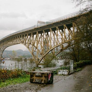 Iron Workers Memorial bridge in Vancouver Canada