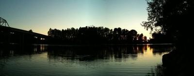 Cowlitz River at sunset