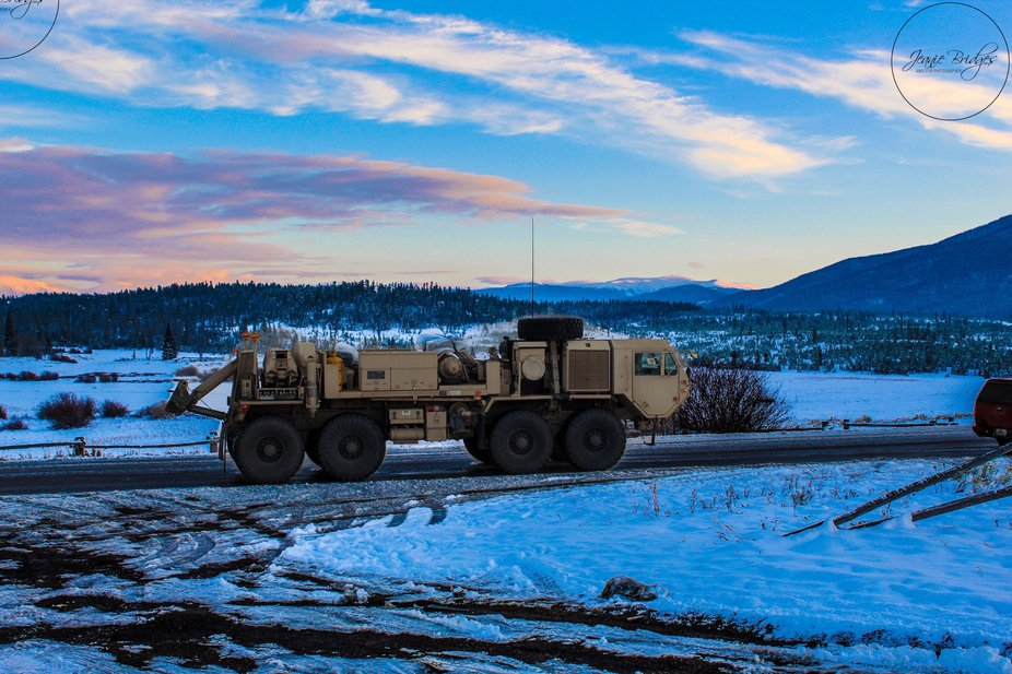 Military transport helping support firefighters in Grand County Colorado 2020