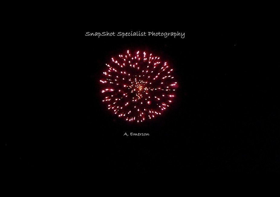 Lake Andes South Dakota fireworks show in 2020. Caught this one pretty clear and made it into a p...
