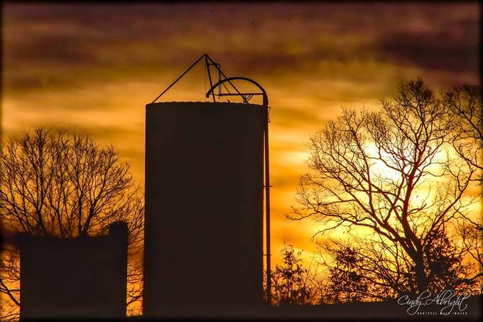 Fill up your silos with heavenly treasures, like this beautiful country sunrise!  It will get you through the harshness of winter!