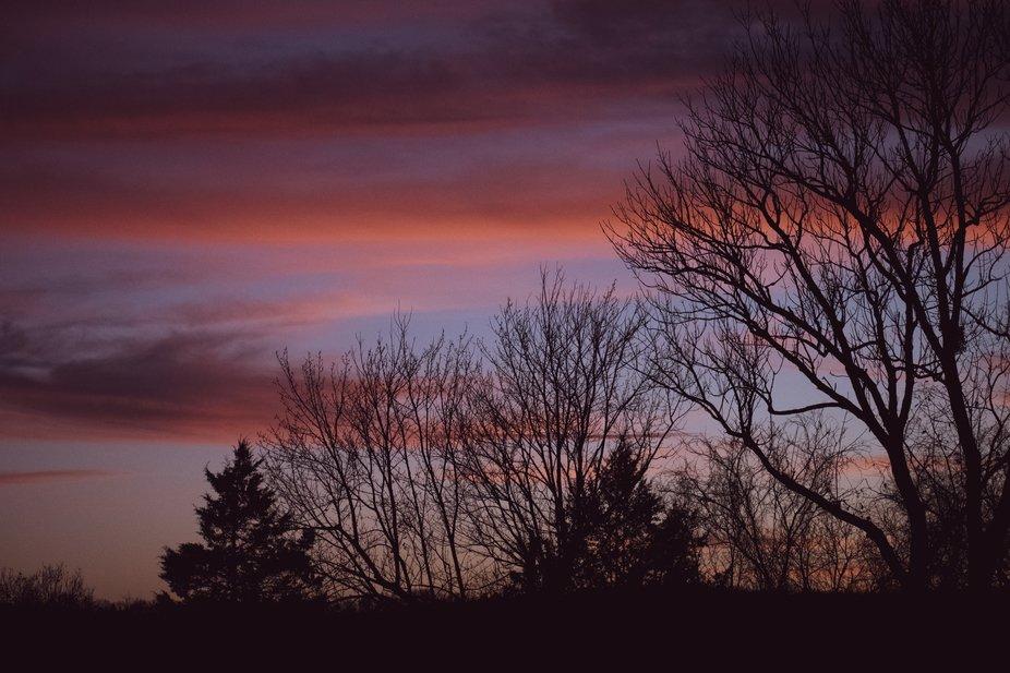 A sunset in Branson, Missouri. Taken Thanksgiving 2020