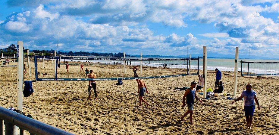 Beach Volleyball in Santa Cruz, California